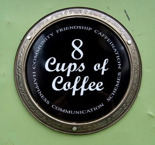 8 Cups of Coffee is an artist book which celebrates our love of coffee